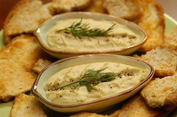 Low-Fat No Tahini Cauliflower Hummus recipe by C.M. Fitz