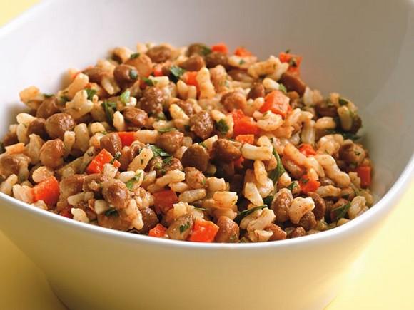 Rice & Lentil Salad recipe
