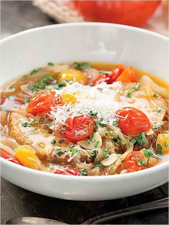 Roasted Tomato-Bread Soup recipe