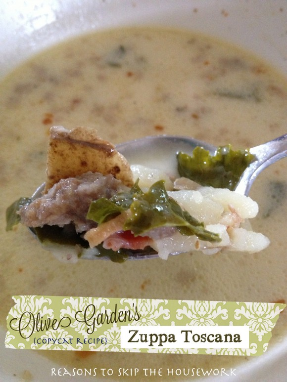 Zuppa Toscana (Copycat Recipe) by Reasons to Skip the Housework