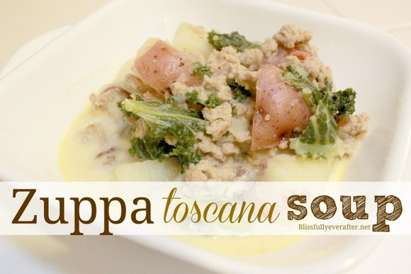 Zuppa Toscana Soup (Olive Garden Knockoff) recipe by Blissfully Ever After