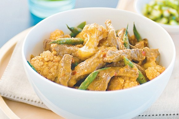 Beef, Green Bean and Cauliflower Panang Curry recipe by Taste