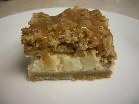 Caramel Apple Cheesecake Bars recipe photo