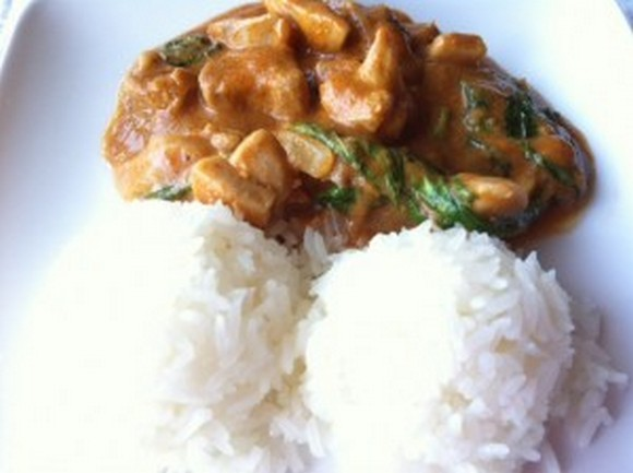 Peanut-Free Thai Panang Curry recipe by Living Richly on a Budget