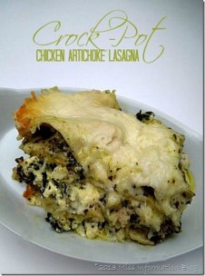 Chicken and Artichoke Slow Cooker Lasagna recipe photo