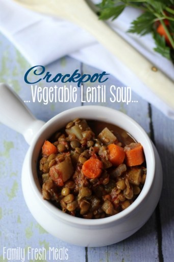Easy Crockpot Vegetable Lentil Soup recipe photo