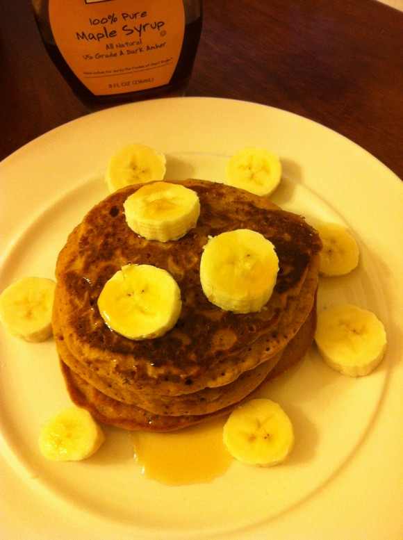 Gluten Free Pumpkin Pie Protein Pancakes recipe photo