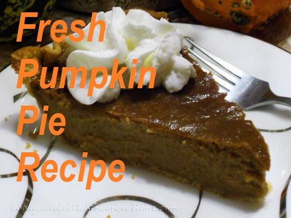 Homemade Fresh Pumpkin Pie recipe photo
