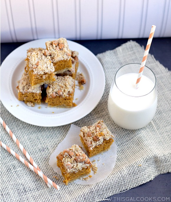 Pumpkin Cookie Bars with Butterscotch Chip Streusel recipe photo