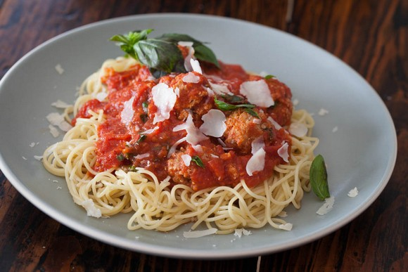 Healthy Spaghetti and Meatballs recipe photo