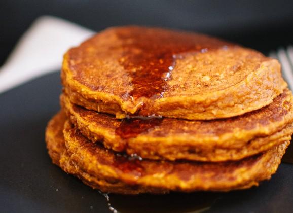 Gluten-Free Pumpkin Oat Pancakes recipe photo