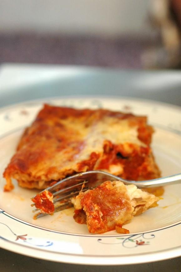 Halloween Pumpkin Lasagne recipe photo
