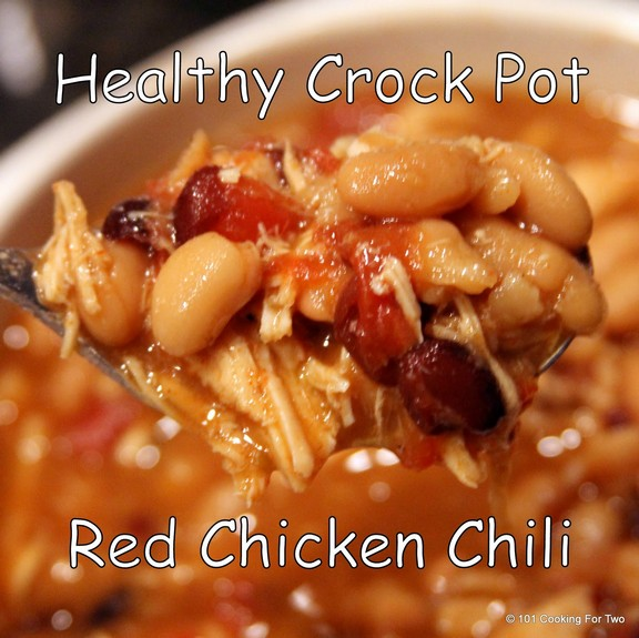 Healthy Crock Pot Red Chicken Chili recipe photo