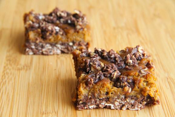 Healthy Pumpkin Pie Oatmeal Bars recipe photo