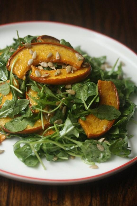 Leftover Jack-o-Lantern Pumpkin Salad recipe photo