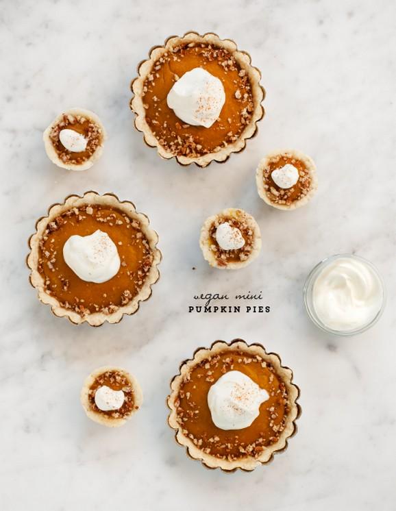 Mini Vegan Pumpkin Pies recipe photo