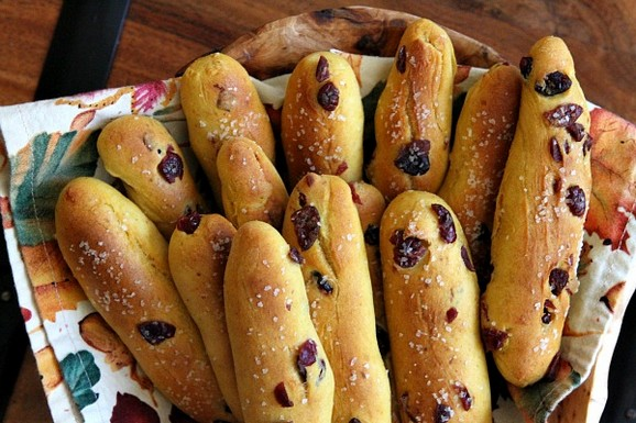 Pumpkin-Cranberry Breadsticks recipe photo