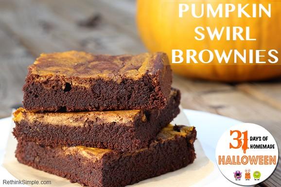 Pumpkin Swirl Brownies recipe photo