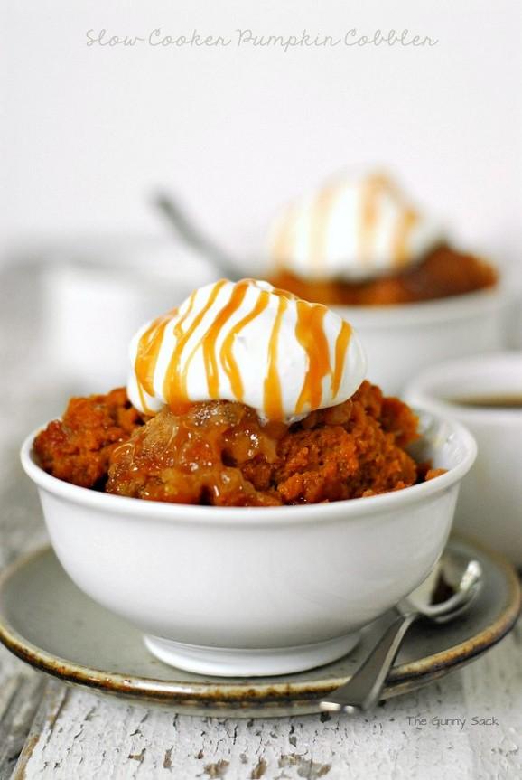 Slow Cooker Pumpkin Cobbler recipe photo