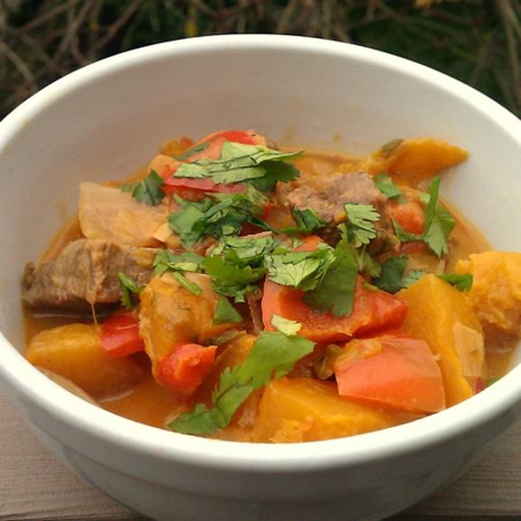 Thai Pumpkin-Beef Curry recipe photo