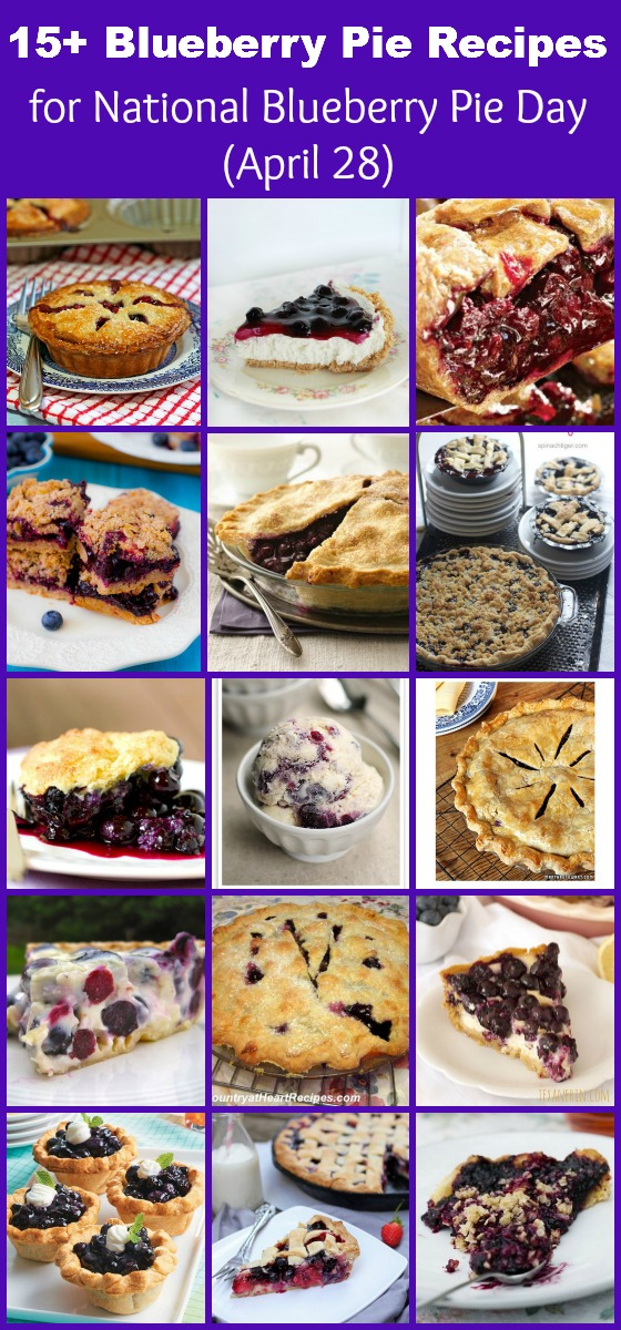 15 blueberry pie recipes for National Blueberry Pie Day (April 28)