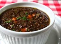 Black Lentil Soup recipe photo