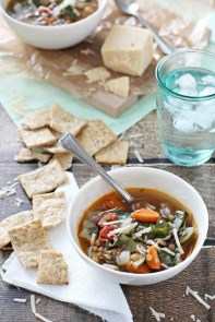 Chard and Lentil Vegetable Soup recipe photo
