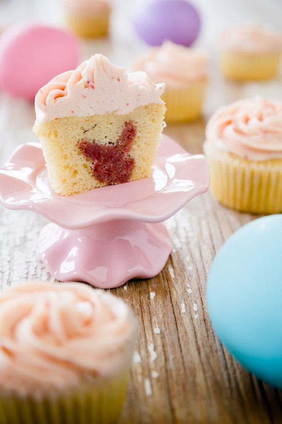 Easter Cupcakes With a Surprise Bunny Inside recipe photo