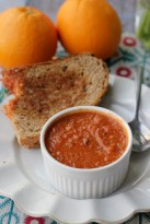 Fire-Roasted Tomato Orange Soup with Classic Grilled Cheese recipe photo