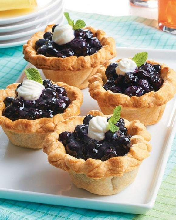Mini Blueberry Pies recipe photo