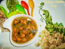 Moringa - Chickpea Vegetable Soup recipe photo