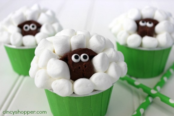 Sheep Easter Cupcakes recipe photo