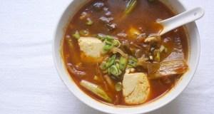Silken Tofu and Kimchi Soup recipe photo