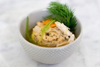 Spring Matzo Ball Soup recipe photo