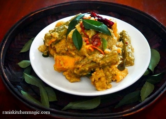 Avial with Prawns (Prawns with mixed Vegetables) recipe