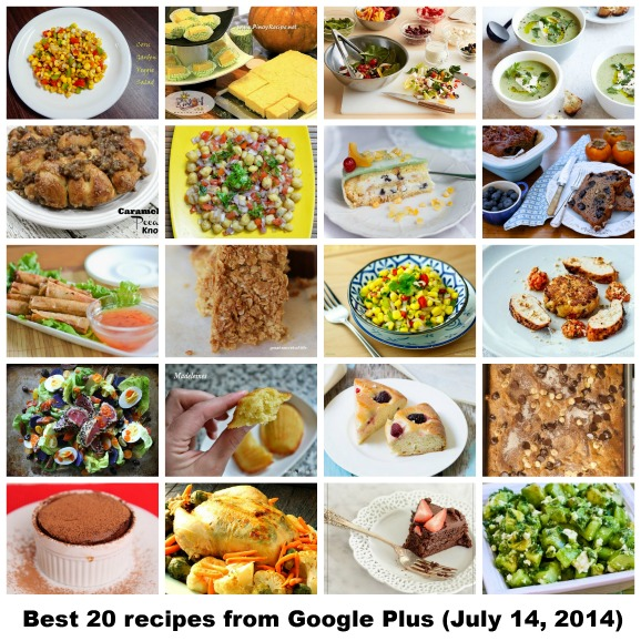Best 20 recipes from Google Plus (July 14, 2014)