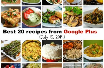 Best 20 recipes from Google Plus (July 15, 2014)