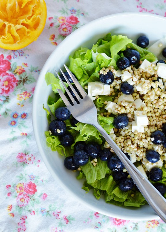 Blueberry, Feta, Buckwheat Salad with Orange Dressing recipe