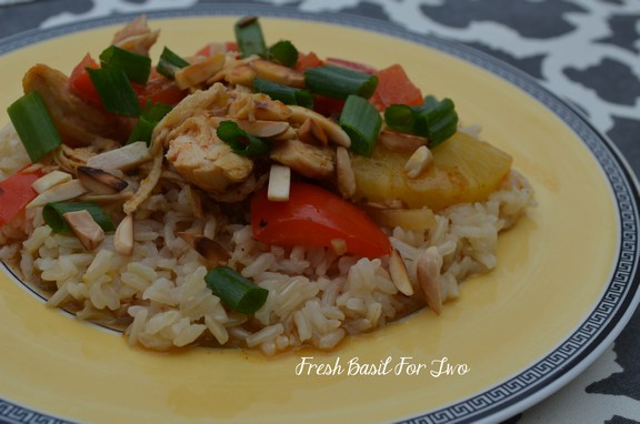 Crockpot Curry Chicken with Toasted Almonds recipe photo