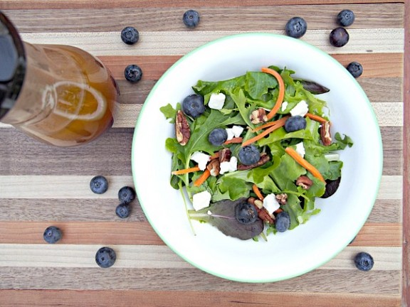 Fresh Raspberry Vinaigrette Summer Salad recipe