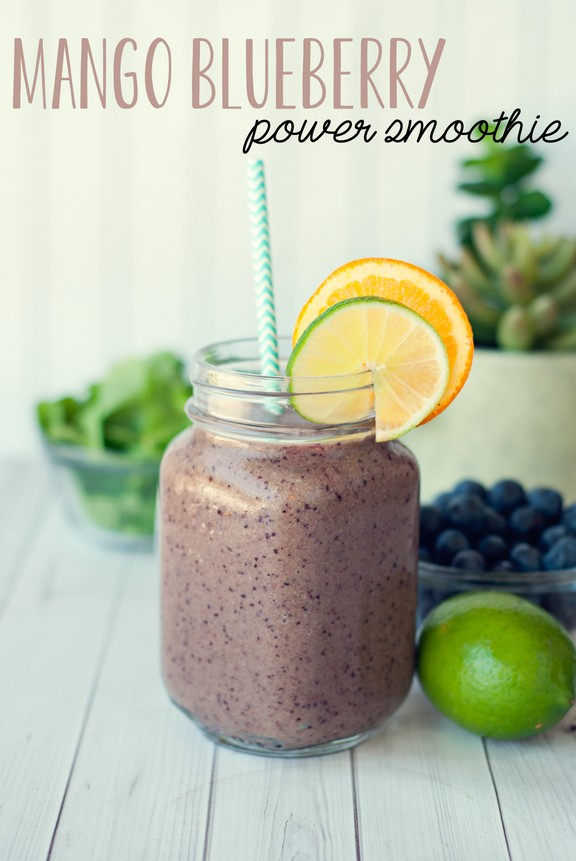 Mango Blueberry Power Smoothie recipe