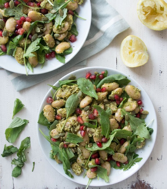 Pesto Butter Bean Salad recipe