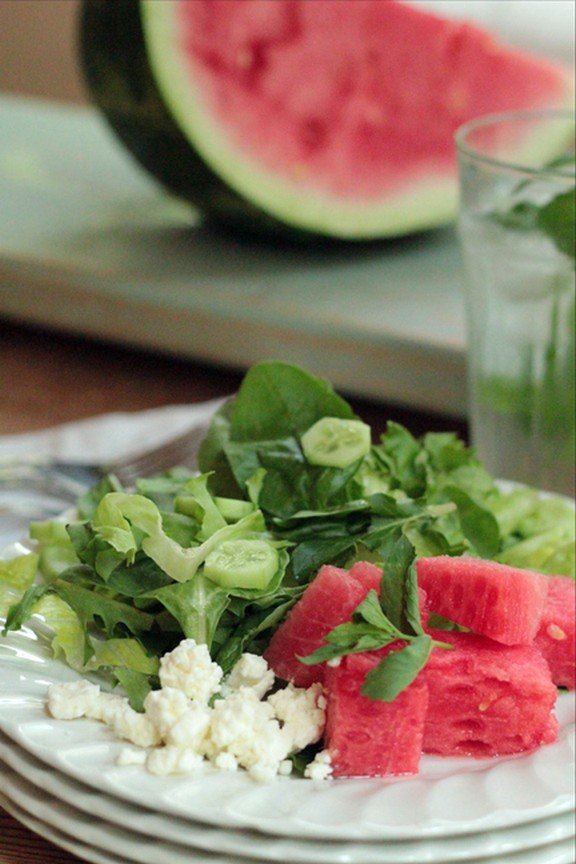 Simple Summer Watermelon Salad recipe