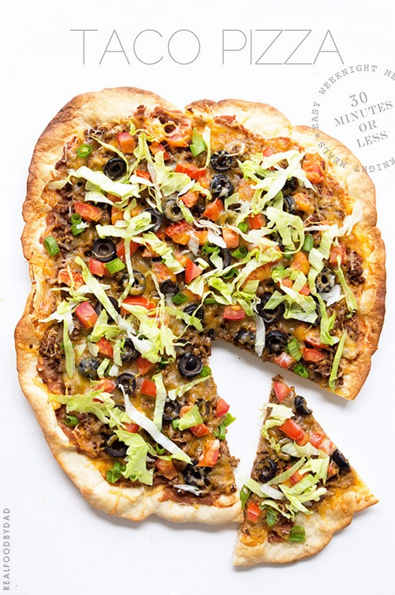 Taco Pizza recipe