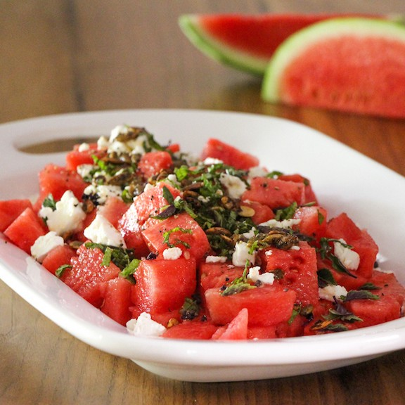 Watermelon and Feta Salad with Verjus recipe