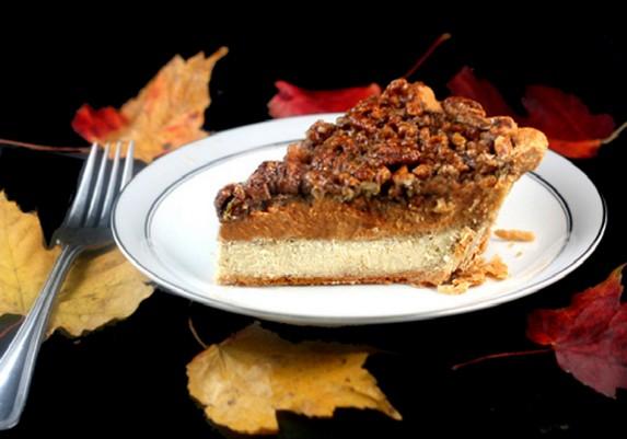 Cheesecake Pumpkin Pecan Pie by Parsley, Sage, and Sweet