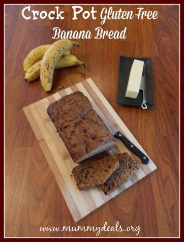 Crock Pot Gluten Free Banana Bread recipe