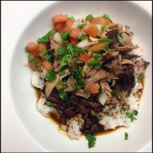 Crock Pot Hawaiian Pork, Beans and Rice recipe