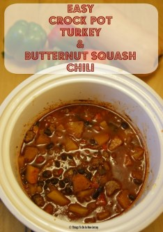 Crock Pot Turkey and Butternut Squash Chili recipe