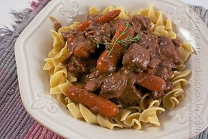 Crockpot Beef Burgundy recipe